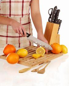 Free Cutting Lemon Stock Image - 18304111