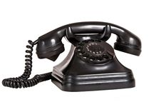 Free Black Vintage Phone 1 Stock Photography - 18304752