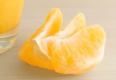 Free The Slices Of The Orange Close-up. Stock Photo - 18305120