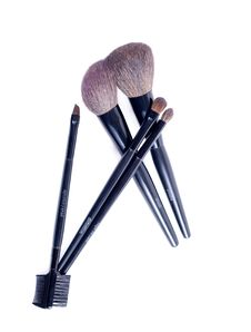 Free Brushes For A Make-up. Stock Photos - 18305153