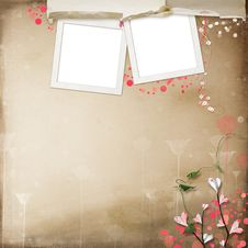 Layout With Frames For Photos Royalty Free Stock Photos