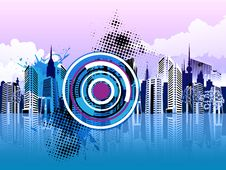 Colorful Cityscape Stock Images