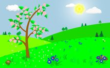 Free Spring Landscape. Royalty Free Stock Photography - 18306167