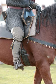 Free Warrior Astride A Horse Royalty Free Stock Photos - 18306428