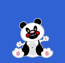 Free Panda On A Dark Blue Background Royalty Free Stock Photo - 18306695