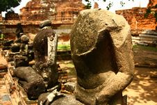 Broken Lord Buddha Sculpture