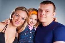 Portrait Of A Happy Family Standing Together Stock Photos