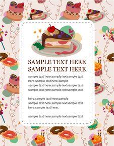 Cartoon Cake Card Royalty Free Stock Photo