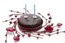 Birthday Candle With Heart Stock Images