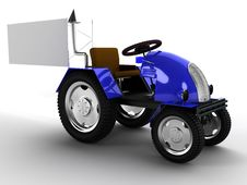 Free Blue Tractor With A Big White Empty Pointer №3 Stock Photo - 18309690