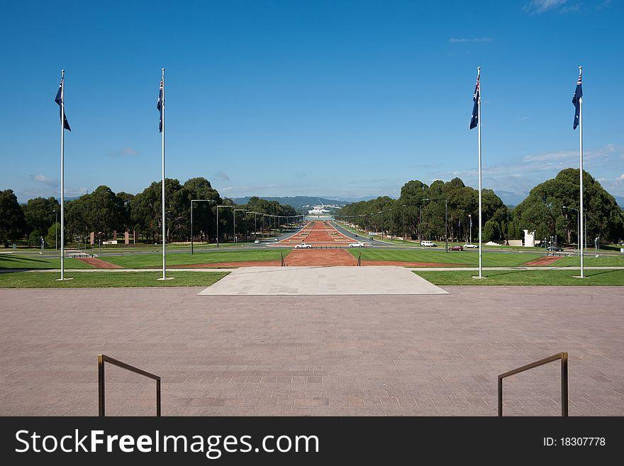 Memorial view.