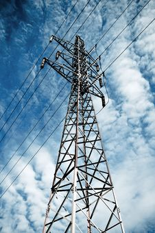 Free Power Transmission Tower Royalty Free Stock Photos - 18310038