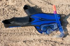 Swimming Flippers And Mask Stock Photography