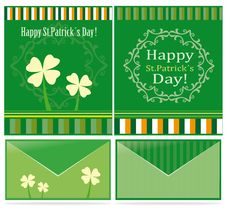 St Patrick´s Day Postcard Designs Stock Image