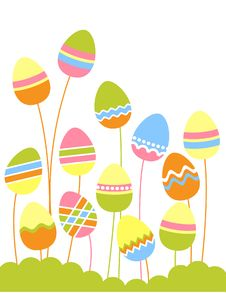 Free Growing Easter Eggs Royalty Free Stock Photos - 18311458