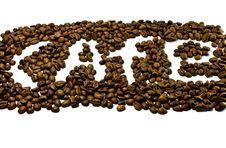 Free Coffe Inscription Royalty Free Stock Photography - 18313267