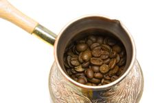 Free Turk And Coffee Beans Stock Image - 18313331