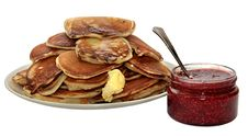 Pile Of Pancakes Stock Images