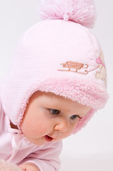 Free Little Child Baby In A  Hat Stock Image - 18313681