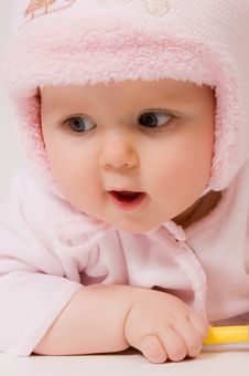 Free Little Child Baby Portrait Royalty Free Stock Photo - 18313685