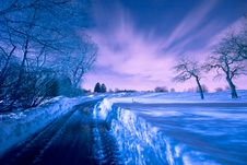 Free Nighttime Winter Landscape Royalty Free Stock Photography - 18313697