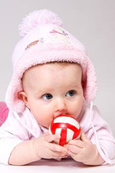 Free Little Child Baby With  Ball Royalty Free Stock Images - 18313739