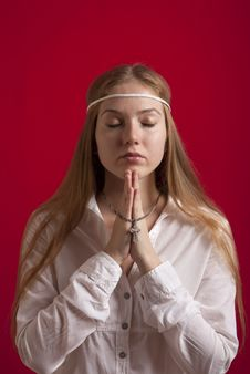 Free Beautiful Girl Praying Stock Photo - 18314020