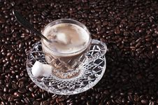 Crystal Coffee Cup Stock Image