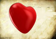 Free Heart On Grunge Background Stock Photo - 18315050