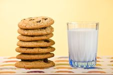 Free Cookies And Milk Royalty Free Stock Photos - 18315448