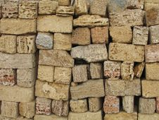 Bricks From Crude Clay Stock Images