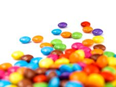 Free Coloured Chocolate Drops Stock Photo - 18316340