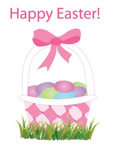 Free Easter Basket Royalty Free Stock Image - 18316816
