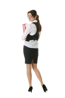 Free Young Businesswoman With Office Folder Stock Photography - 18316842