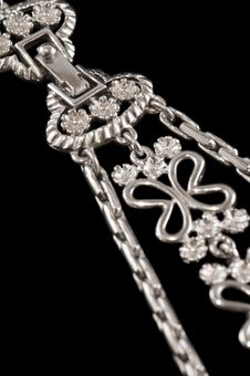 Free Silver Necklace Clasp Stock Image - 18317101