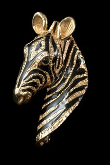 Free Striking Vintage Zebra Brooch Royalty Free Stock Photo - 18317225