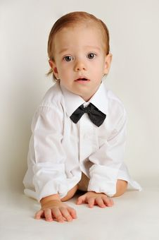 Free Cute Little Boy In A White Shirt Stock Photo - 18318750