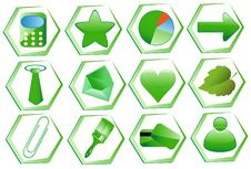 Free Icon Set For Web Applications Stock Photography - 18319942