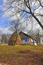 Free Haycock And Old House Royalty Free Stock Image - 18320136