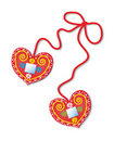 Free Merry Gingerbread Hearts Royalty Free Stock Image - 18323416