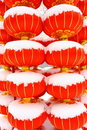 Free Chinese Red Lantern On Snow Stock Images - 18325374