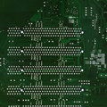 Free Close Up Of Computer Circuit Board In The Green Stock Images - 18326184