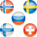 Free Flag Buttons Royalty Free Stock Photography - 18326357