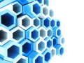 Free Blue Frame Hexagons Royalty Free Stock Photography - 18328747
