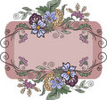Free Horizontal Floral Frame Royalty Free Stock Photography - 18328837