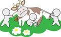 Free Three Man Share Cow Stock Photo - 18328880