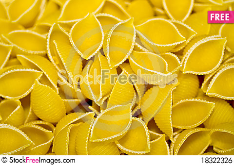 Free Uncooked Pasta Royalty Free Stock Image - 18322326