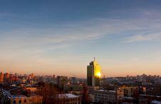 Free Kyiv Sunset Cityscape Royalty Free Stock Photo - 18320185