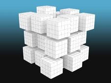 Free White Cubes With Grid Royalty Free Stock Photos - 18322008