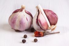 Free Garlic And Pepper Stock Photo - 18322140